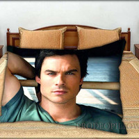"""Ian Somerhalder - 20 """" x 30 """" inch,Pillow Case and Pillow Cover."""