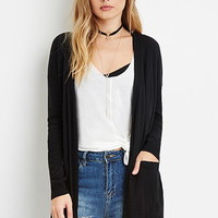 Classic Open-Front Cardigan