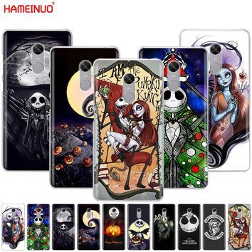 HAMEINUO Nightmare Before Christmas alloween Cover phone  Case for Xiaomi redmi 5 4 1 1s 2 3 3s pro PLUS redmi note 4 4X 4A 5A