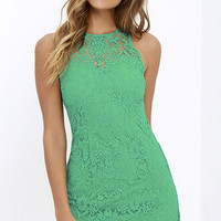 BB Dakota Larelle Green Lace Dress