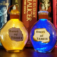 "Once Upon a Fantasy"" light up bottles- Heart of TARDIS"