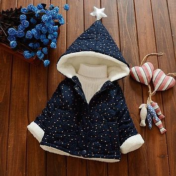 Baby Girl Fashion Coat For 2018 Spring/ Autumn Snow Dots Clothing Coats Infant Girls Newborn Baby Outwear