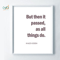 But Then It Passed, As All Things Do- Quote- Printable Art, Black and White Decor, Minimalist Poster Typography- Download-Office Decor-Smart