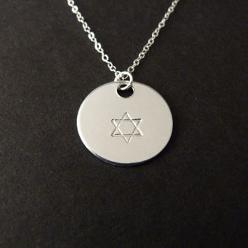 Star of David Necklace, Jewish Jewelry, Star of David, Bar Mitzvah, Bat Mitzvah, Jewish Star, Sterling Silver