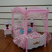 Barbie Size Dollhouse Furniture- Master Bed Room Set