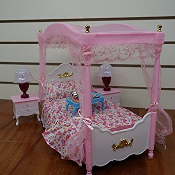 Barbie Size Dollhouse Furniture- Master Bed Room Set by Huaheng Toys