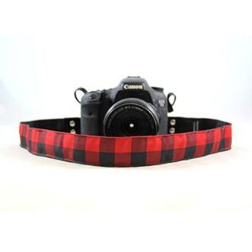 Buffalo Plaid Red 1.5In Camera Strap - Capturing Couture - CASLR15-BFOR