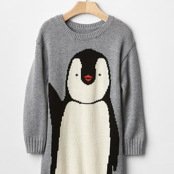 Gap Intarsia Penguin Sweater Dress