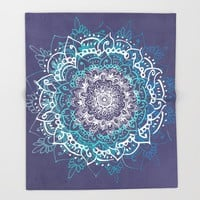 Boheme Mandala Throw Blanket by rskinner1122
