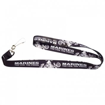 USMC The Few The Proud Black Lanyard | The Marine Shop