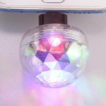 home party decoration Mini Disco Party Light Ball Mobile Phone USB Sound Control Crystal Magic balls