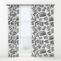 black mudcloth Window Curtains by Sylvia Cook Photography