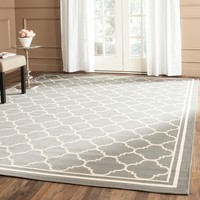 Safavieh Dark Grey/ Beige Indoor Outdoor Rug (5'3 x 7'7) | Overstock.com Shopping - The Best Deals on 5x8 - 6x9 Rugs