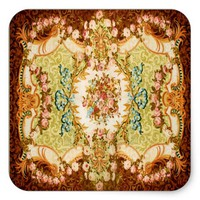 Baroque pattern sticker