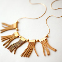 NEW Collection: Mixed Vintage Tassels and Modern Thin gold plated Chain Necklace  by pardes israel
