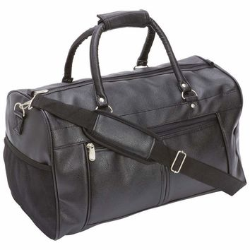 "Travel Gear 17"" Faux Leather Tote Bag"