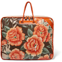 Balenciaga - Blanket XL floral-print textured-leather tote