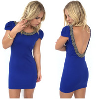 Lineage Mini Dress In Royal Blue