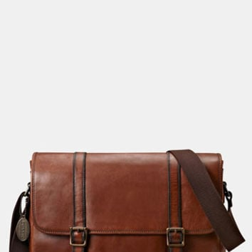 Fossil 'Estate' Leather Messenger Bag
