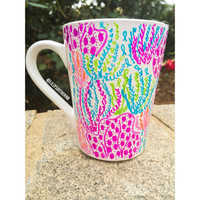 Lilly Pulitzer Let's Cha Cha Inspired Mug