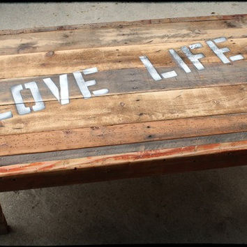 Rustic Coffee Table Love Life  Reclaimed Wood