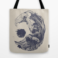 Swell Tote Bag by Huebucket