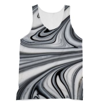 Black and White Marble Swirls American Apparel Sublimation Vest