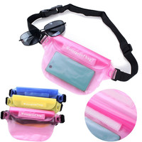 Candy Color Unisex Waterproof Dry Waist Bag Beach Rafting Camera Pack Phone Holder Pouch Case