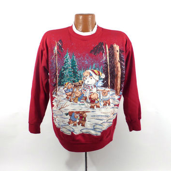 Ugly Christmas Sweater Vintage Sweatshirt Party Xmas Tacky Holiday Nutcracker M