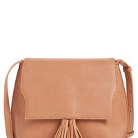Sole Society Tassel Faux Leather Crossbody Bag | Nordstrom