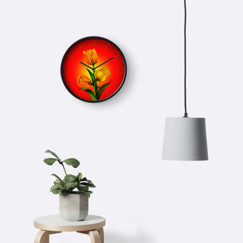 'Tulips' Clock by Zina Stromberg