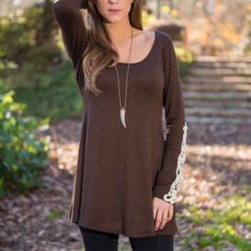 Rare Reviews Top, Brown