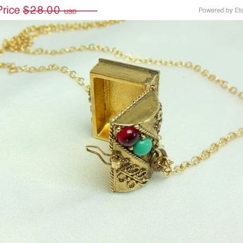 ON SALE AVON Treasure Box Necklace Pendant