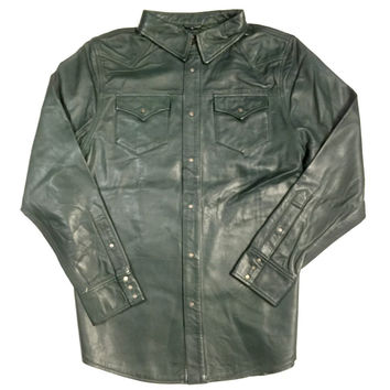 G-Gator Lambskin Button-Up Shirt