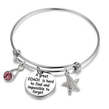 AUGUAU Inspirational/motivational/LOVE/Memorial/Thankful/Beauty/Praise/Religious/Friendship Meaningful Message Charm Bracelets,Expandable Wire Bangle Bracelets.