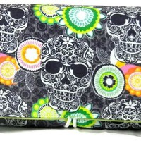 Coupon Holder Organizer Skulls and Florals