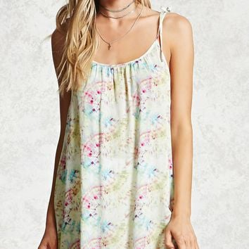 Abstract Print Cover-Up Dress