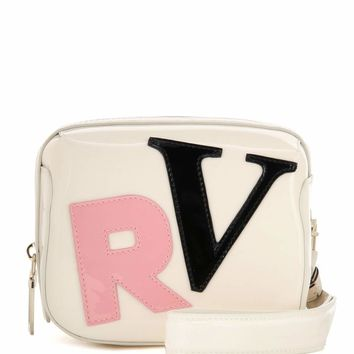 Faux patent leather clutch