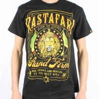 Zion Rasta - Lion Frame Adult T-Shirt in Black