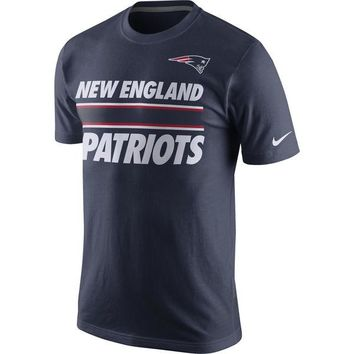 Men's New England Patriots Nike Navy Team Stripe T-Shirt