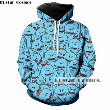PLstar Cosmos Brand clothing morty 3d jumper Men Women funny hoodies frick and morty 3d print hooded sweatshirt Drop shipping