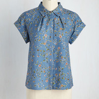 In Living Scholar Button-Up Top | Mod Retro Vintage Short Sleeve Shirts | ModCloth.com