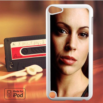 Alyssa Milano Face iPod Touch 4 Case, iPod Touch 5 Case, iPod Touch 6 Case