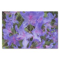 """Purple Rhododendrons Floral 10"""" X 15"""" Tissue Paper"""