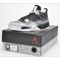 """Ready Stock"" aj4 Air Jordan 4 ""Oreo"" Men Women Sneaker"