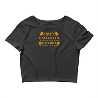 happy halloween witches Crop Top
