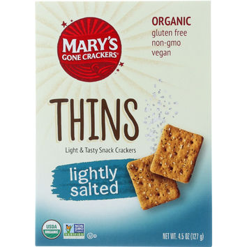 Marys Gone Crackers Crackers - Organic - Thins - Lightly Salted - 4.5 oz - case of 6