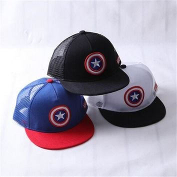 Captain America Snapback Adjustable Trucker Hat - Kids