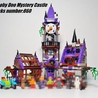 10432 Scooby Doo Mystery Castle Courtyard Mansion model Building blocks bircks 75904 Scooby Doo compatiable legoes Kid Toy Gift