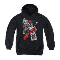 Harley Quinn Smoking Gun Youth Pullover Hoodie